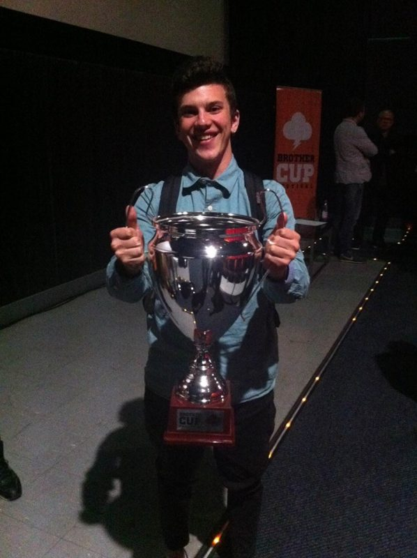 Alumno de cuarto año gana oro en Brother Cup Festival