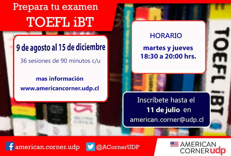 Convocatoria para curso TOEFL iBT Segundo Semestre 2016
