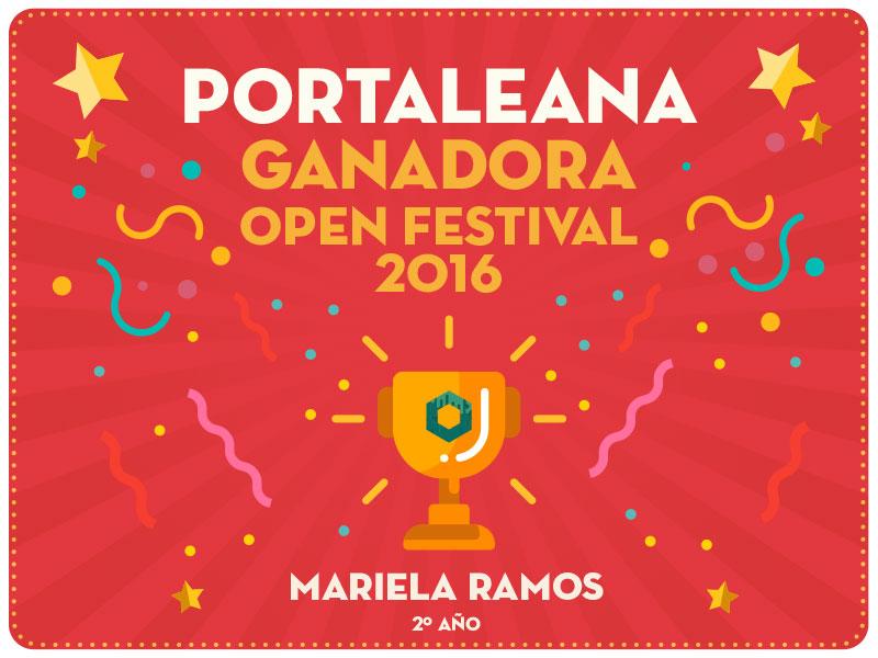 Nota y entrevista a Mariela Ramos, ganadora del Open Festival 2016