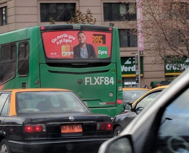 Primera campaña publicitaria en Chile en idioma creole